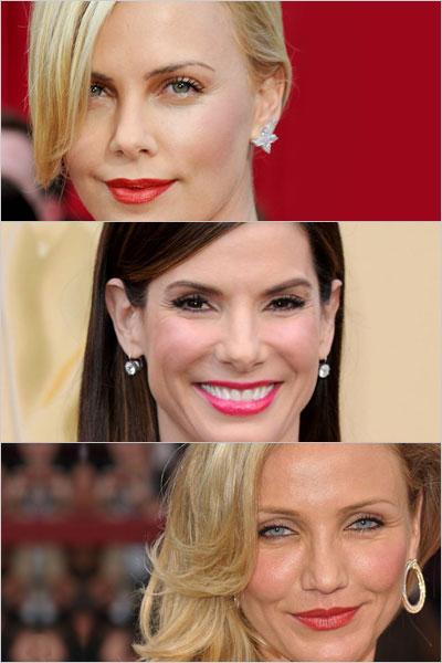 oscars_red_lips_Sandra_Bullock_Charize_Theron_Cameron_Diaz_lipstick_spring_beauty