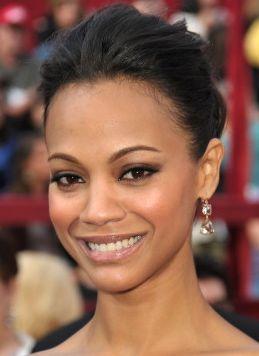 zoe saldana oscars 2010 beauty celebrity hairstyles Get The Look: Fresh Faced At The Oscars