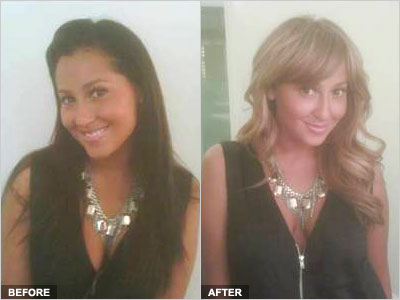 Exclusive First Look Adrienne Bailon S Bold Hair Makeover Stylecaster