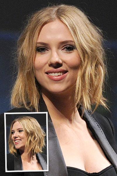 Get The Look Scarlett Johansson S Wavy Bob Stylecaster