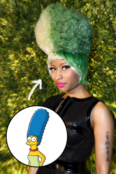 nikki minaj simpsons hairstyle Nicki Minaj Inspired By Marge Simpson