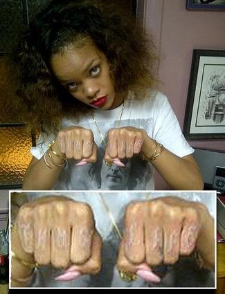 2daf1807ea9fd Rihanna_Thug_Life_Zoom.jpg (Slideshow). Photo: Rihanna's Twitter. Rihanna  has just added a new tattoo to her ...