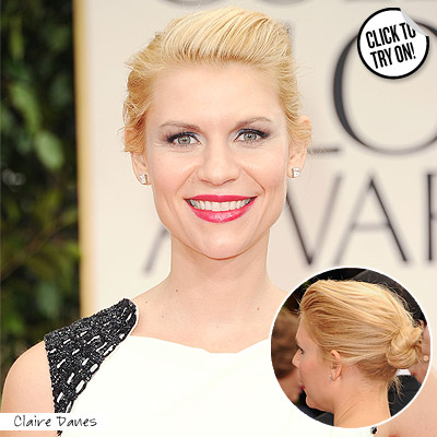 wella gg claire Easy Tricks To Create Golden Globes Hairstyles!