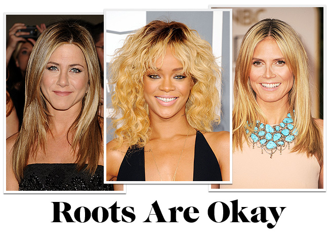 minaridi blonde roots Springs Sexiest New Hair Colors
