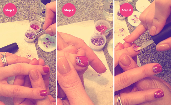 Nail Art How To Ombre Glitter Stylecaster