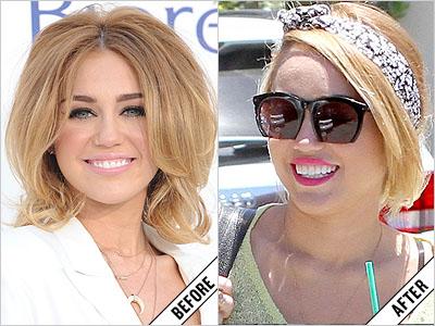 Miley Cyrus Lightened Her Hair