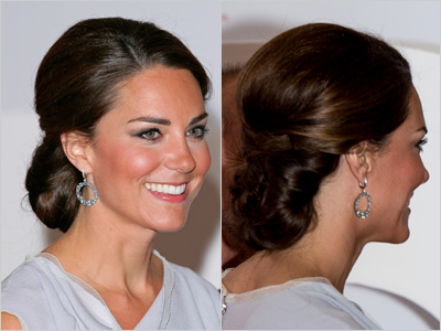 Kate Middleton Chignon at The UK's Creative Industries Reception