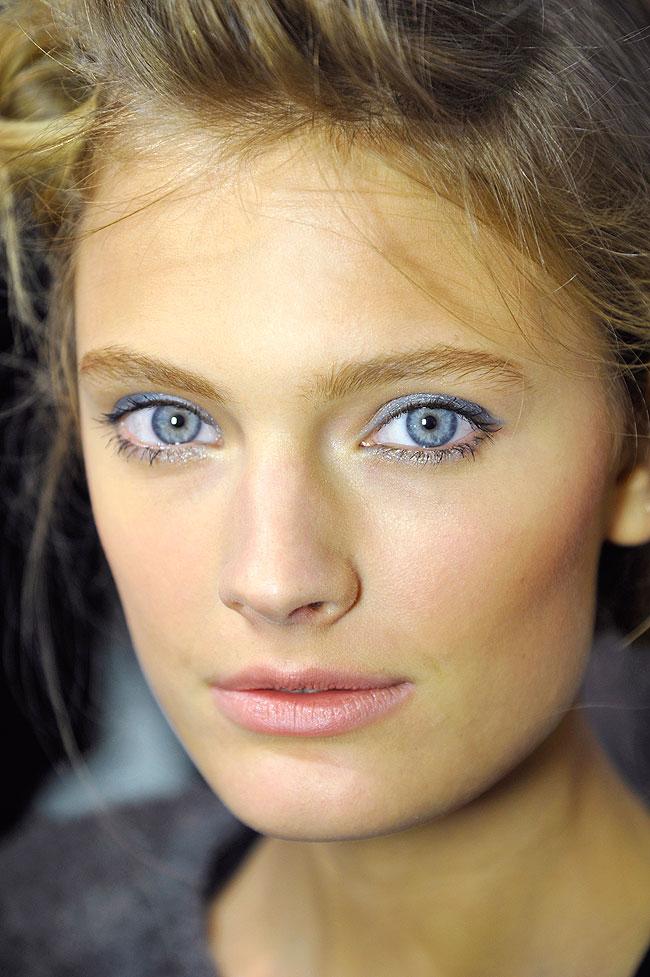 Blue eye makeup at Paris Fashion Week, Spring 2013