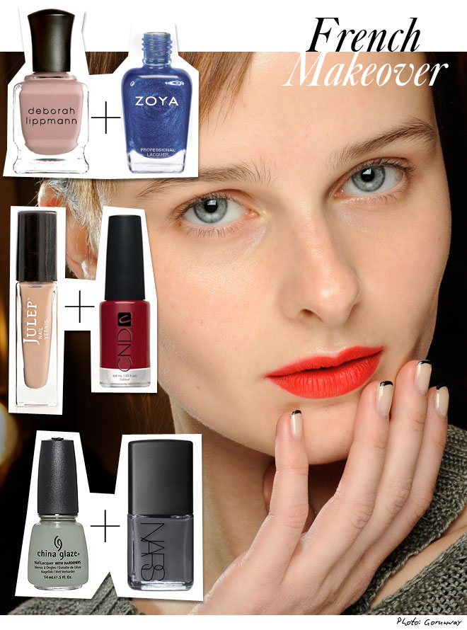 frenchmakeover1 Falls Hottest Nail Polish Trends