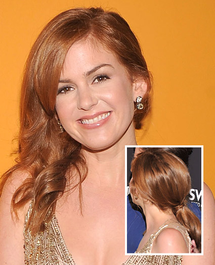isla fisher Get The Look: Isla Fisher's Asymmetrical Down 'Do