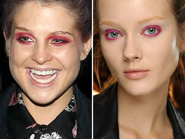 Kelly Osbourne wears Donna Karan's SS 13 makeup look