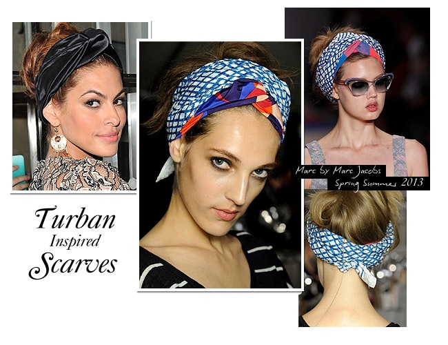 newturban scarves Get The Look: Turban Head Scarf