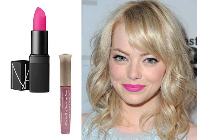 Lip color for blonde hair