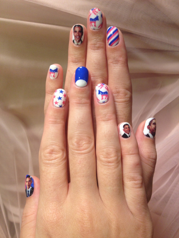 Katy Perry Barack Obama Nails