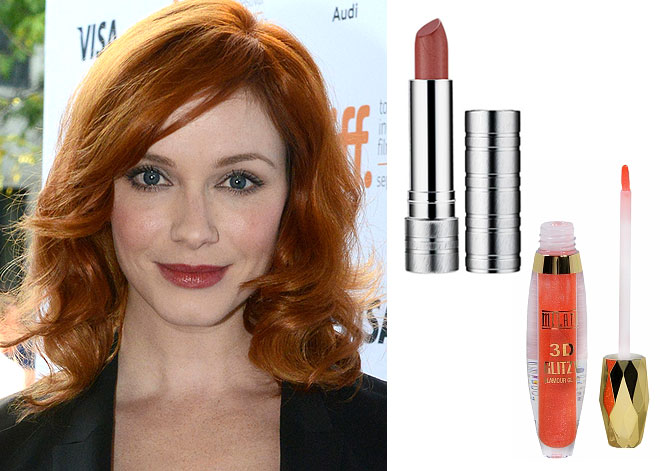 Lip color for red hair