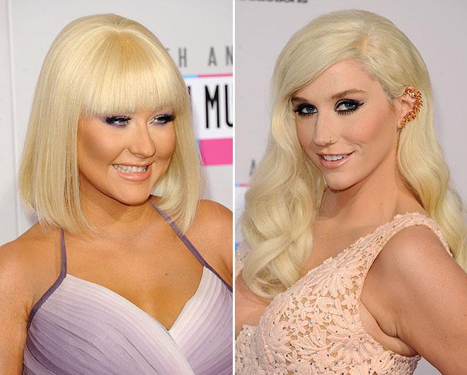 Christina Aguilera and Ke$ha
