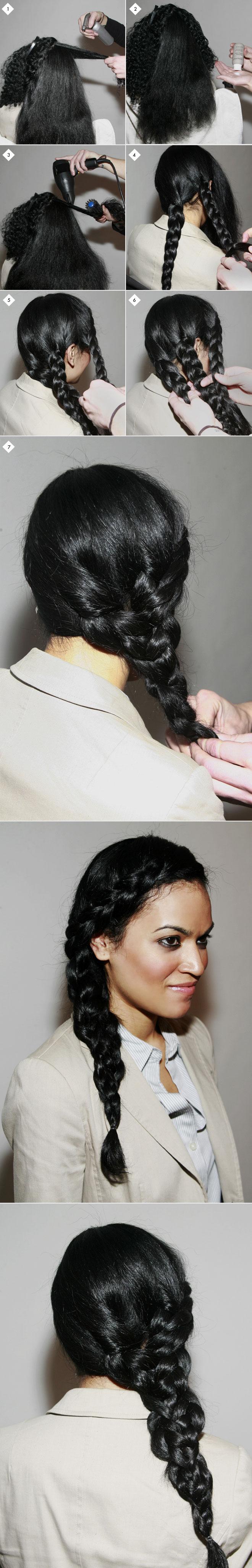 Triple side braid: how-to