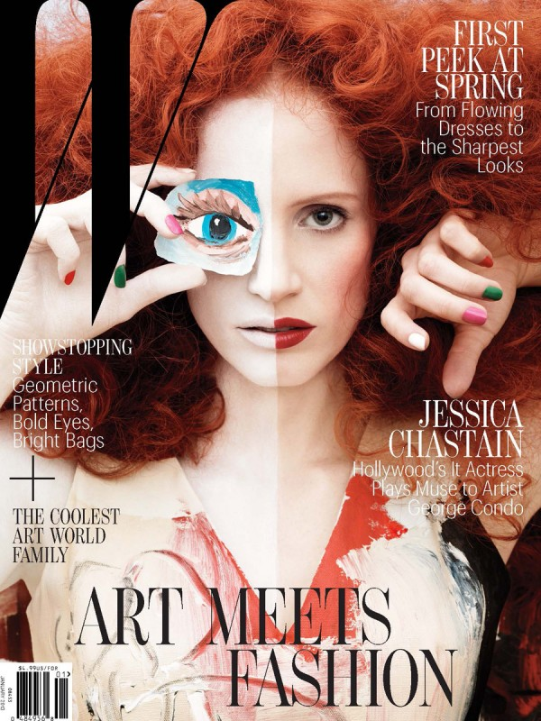 Jessica Chastain covers W Magazine
