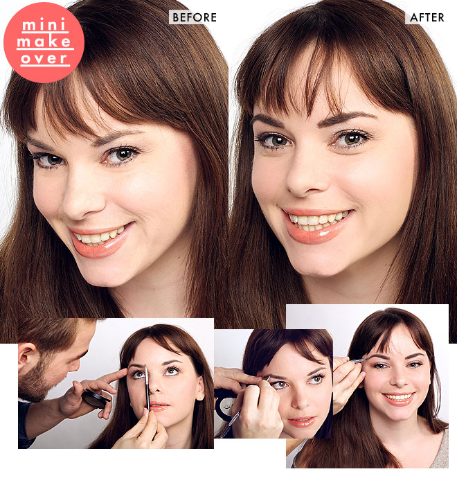 Brow makeover: Jackie tries a statement-making shape