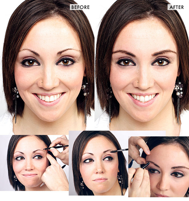 Brow makeover: from skinny to shapely