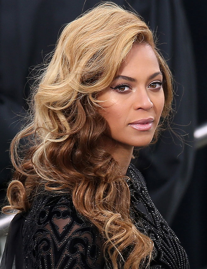 Beyoncé at the 2013 Inauguration with makeup by Mally Roncal