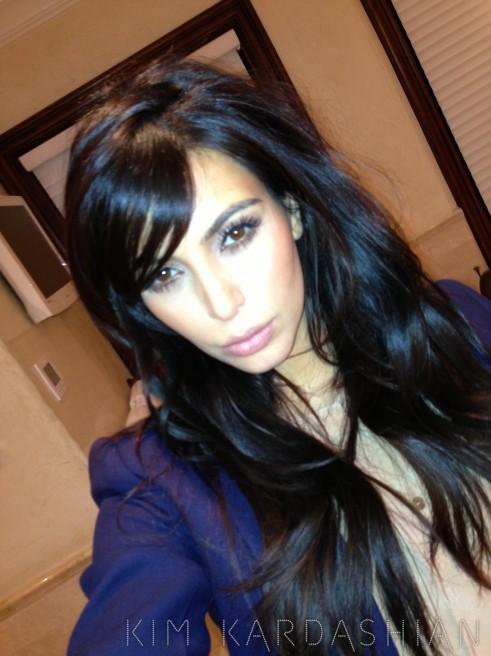 Kim Kardashian Cut Her Bangs For Real This Time
