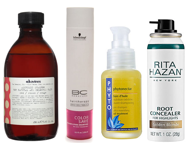 Products for low-maintenance hair color