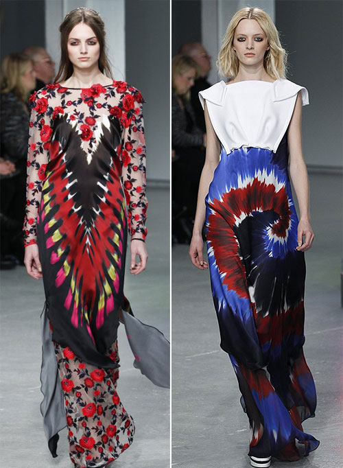 Runway looks from Rodarte's Fall 2013/2014 collection