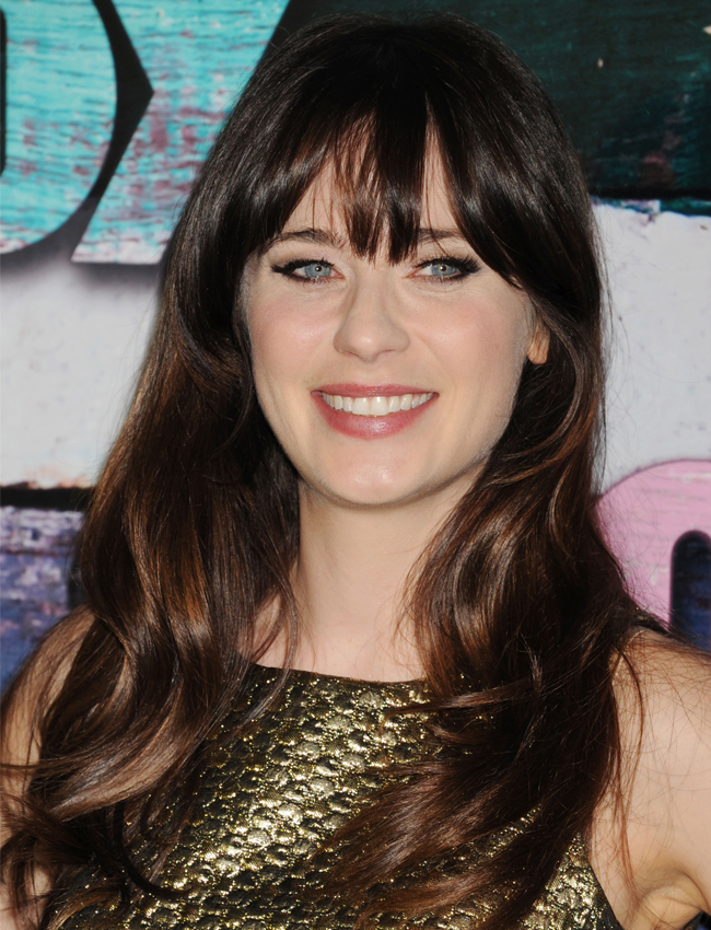 67308e0137aa News  Zooey Deschanel Explains How To Cut Your Bangs  First Magazine ...
