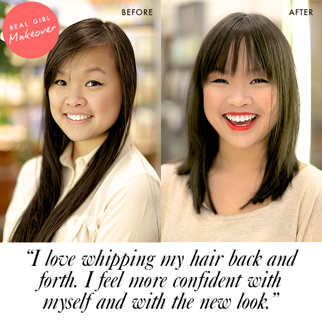 Real girl makeover: before and after