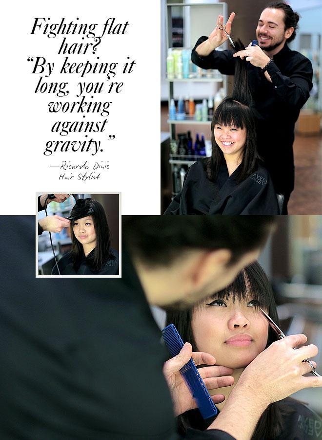 Real girl makeover: the haircut