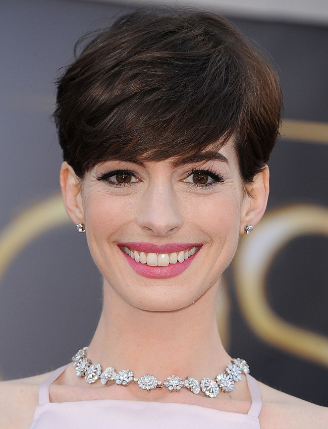 Photo: Getty Images  Anne Hathaway at the 85th Annual Academy Awards