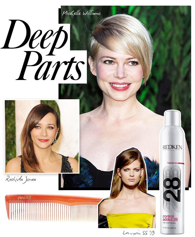 Spring beauty trends: deep parts