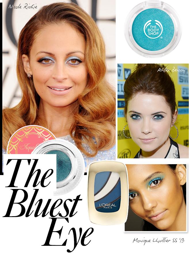 Spring beauty trend: the bluest eye