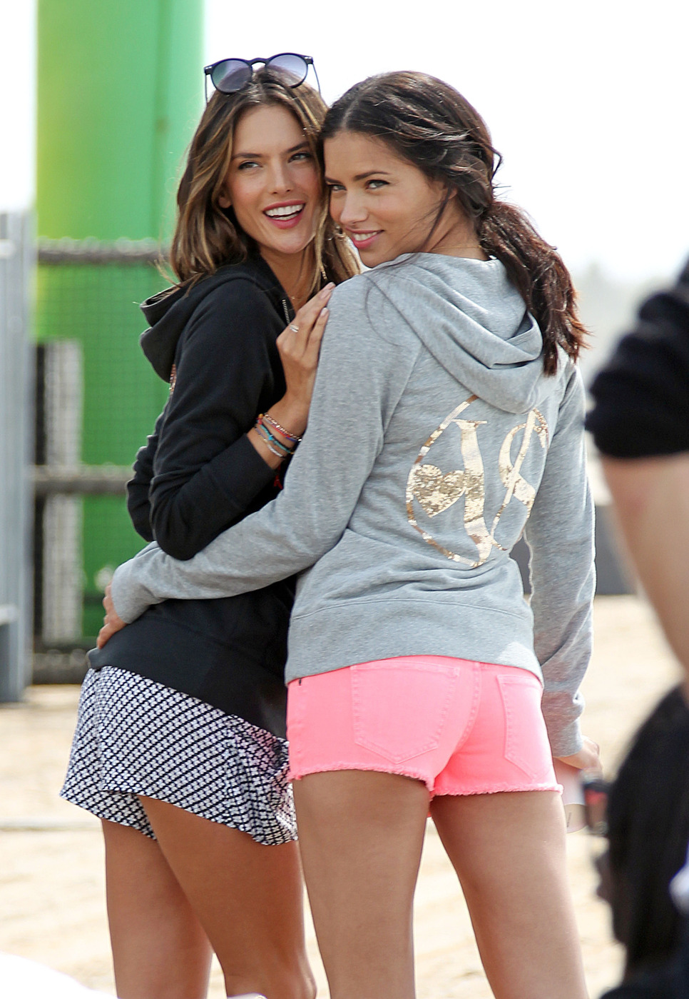 **EXCLUSIVE** Adriana Lima and Alessandra Ambrosio partner up for a Victorias Secret photo shoot in Los Angeles