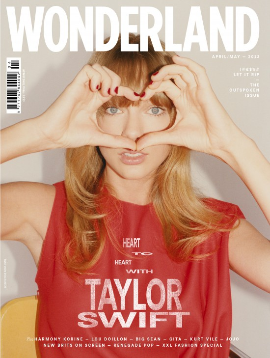 Taylor Swift on the cover of Wonderland