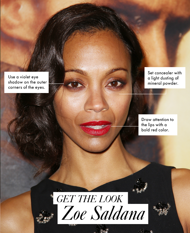 Get The Look: Zoe Saldana's 20s-Inspired Makeup