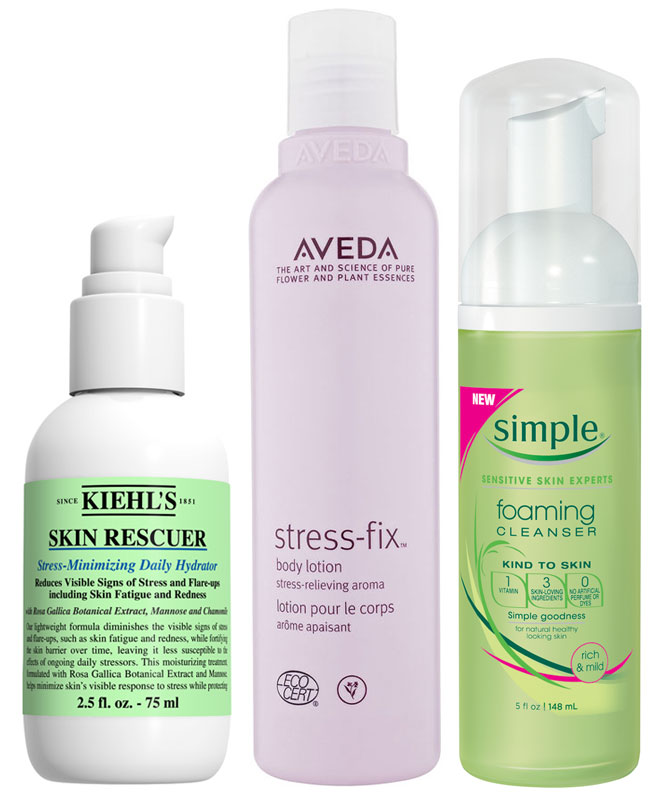 Skincare products to treat stress' effects on the skin