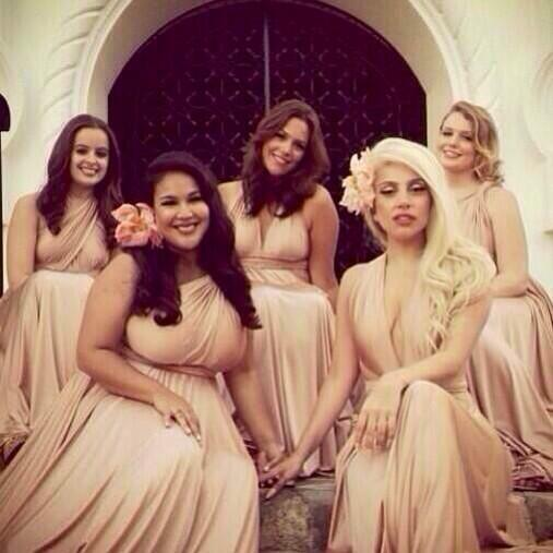 News Lady Gagas Toned Down Bridesmaid Look Pnks New Hair