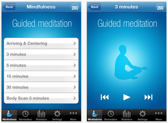 mindfulness app screenshot 10 Apps To Make Over Your Look (And Life)