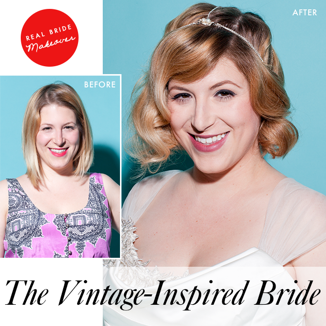 The vintage-inspired bride: before and after
