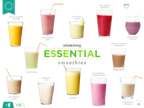 whole living essential smoothies pic 10 Apps To Make Over Your Look (And Life)