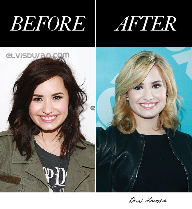 Demi Lovato Black to Brown Hair