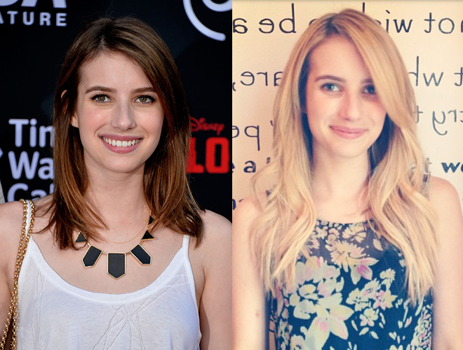Emma Roberts' new long, blonde hair extensions