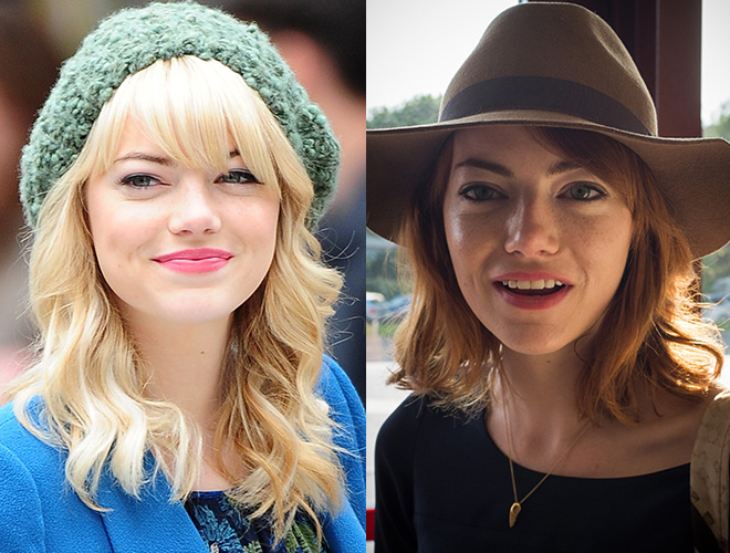 Emma Stone's new haircut and color