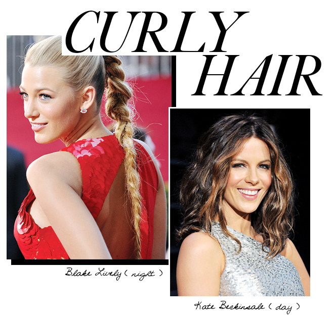 Day to night looks for curly hair