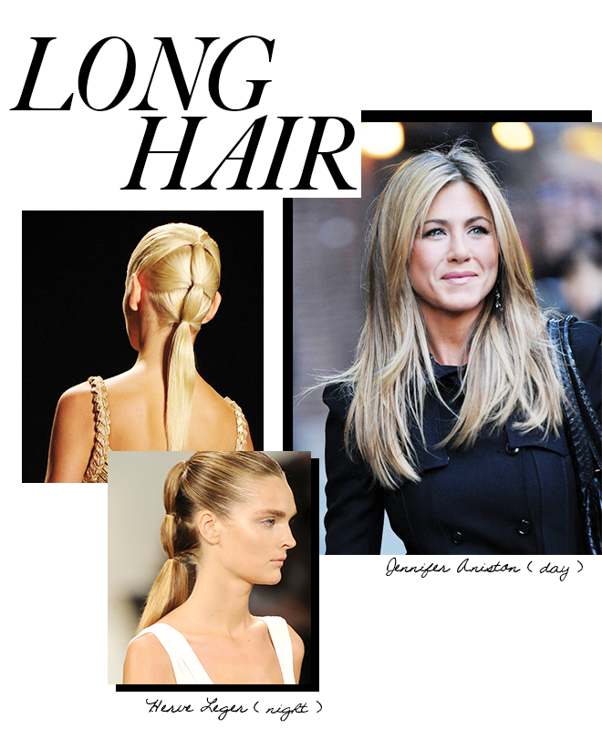 Day to night looks for long hair