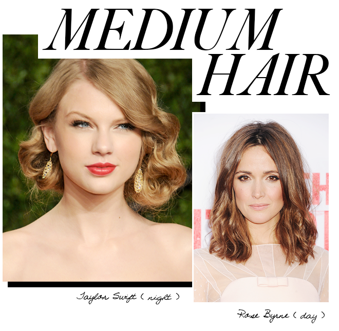 Day to night looks for medium hair