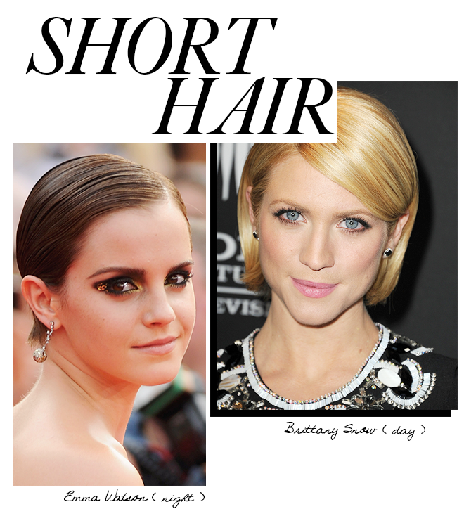 Day to night looks for short hair
