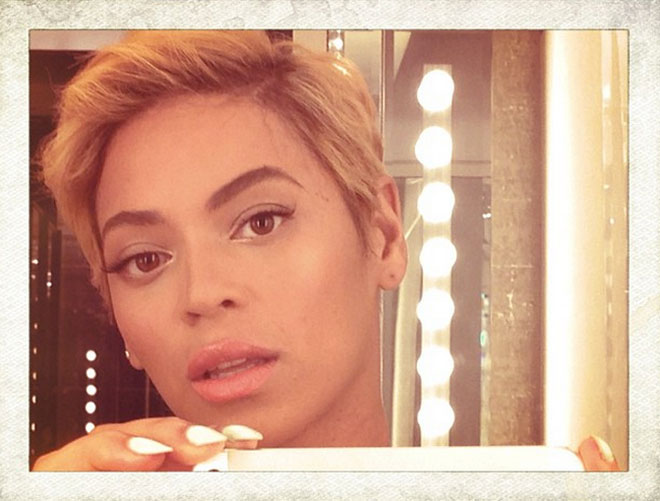 Beyoncé debuted her pixie cut on Instagram